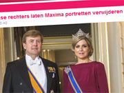 Haagse rechters laten Maxima portretten verwijderen